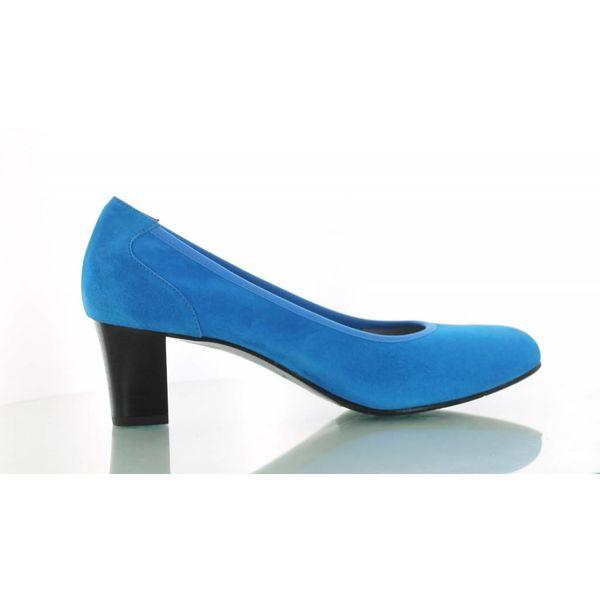 Denia Denia, Suede Pumps Turquoise