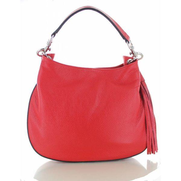 Sofia, rood leren stijlvolle handtas