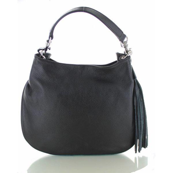 Sofia, zwarte leren stijlvolle handtas