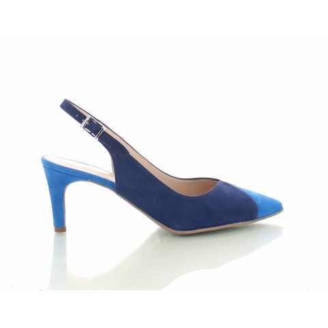 Mirano, Suede Slingback Pumps Blauw