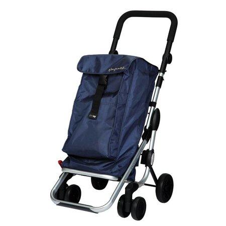 Playmarket Boodschappentrolley Go Up Blauw/Navy