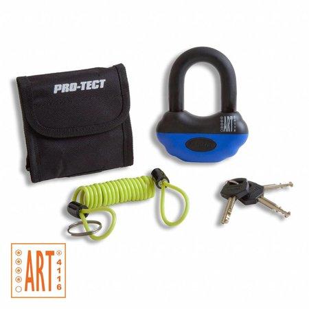 Pro-tect Schijfremslot Topaz ART-4 met reminderkabel en tas - Blauw/zwart