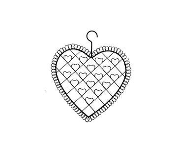 Kartenhalter Herz | Fotohalter Vintage Stil | Metall