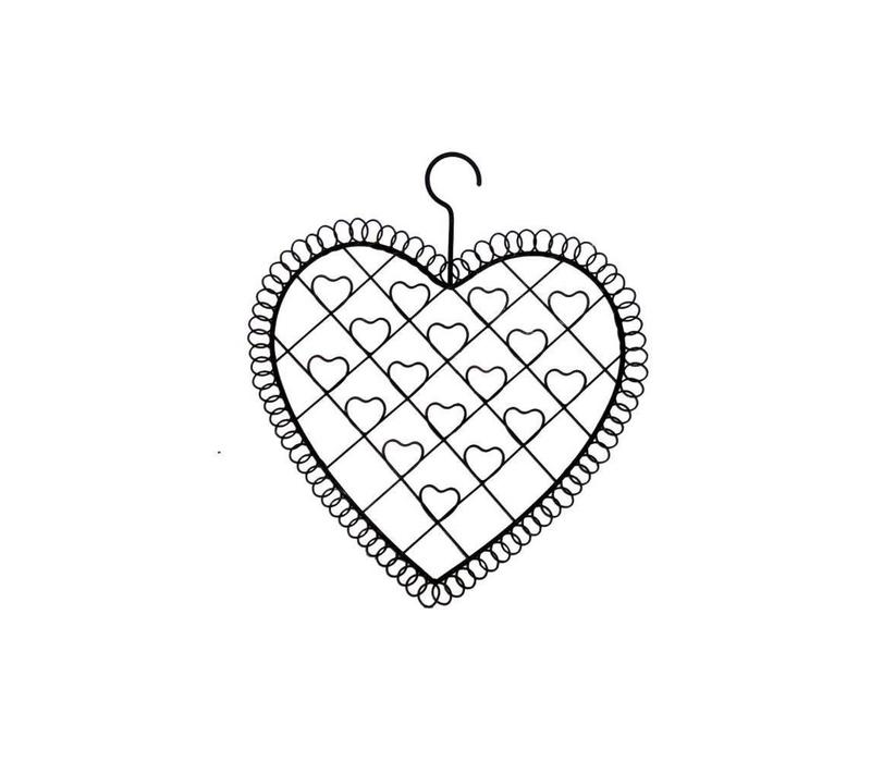 Kartenhalter Herz   Vintage Stil   Metall