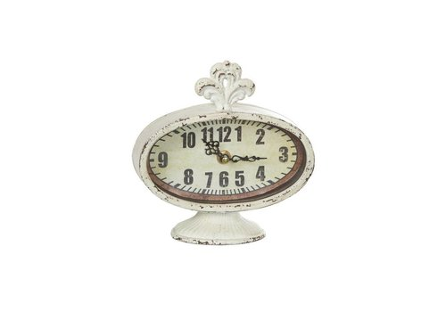Vintage Uhr | Shabby Chic | Antikweiss
