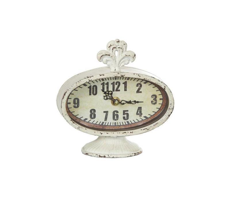 Vintage Uhr | Shabby Chic | Antikweiss