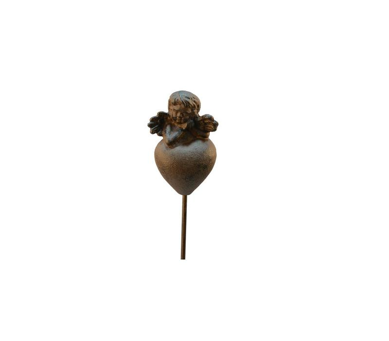 Garten Dekostab | Engel | Antik Rost