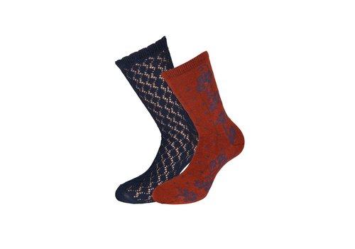King Louie Socken 2 Paar | Socks 2-Pack Dolly | Dark Navy