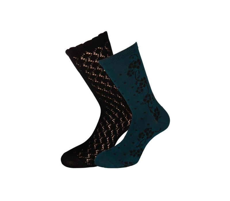 Socken 2 Paar | Socks 2-Pack Dolly | Black