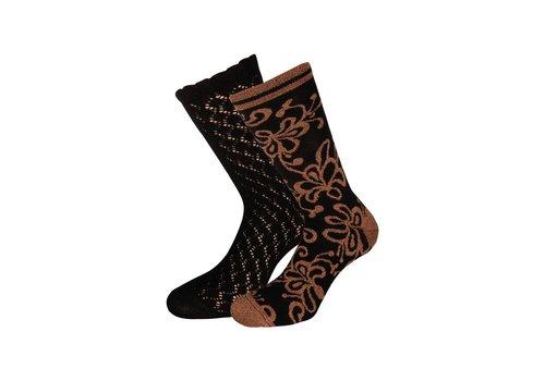 King Louie Socken 2 Paar | Socks 2-Pack Razzle Dazzle | Black