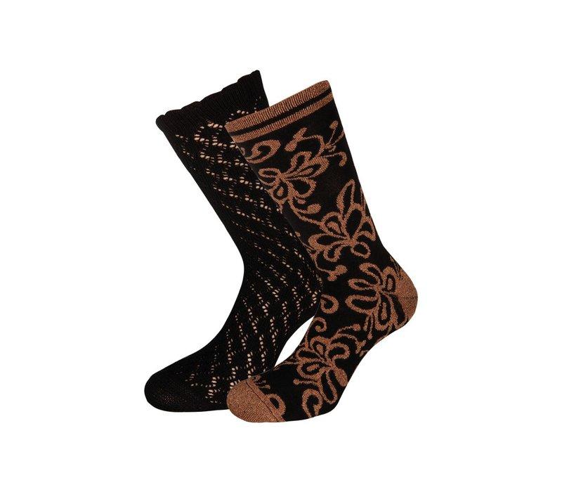 Socken 2 Paar | Socks 2-Pack Razzle Dazzle | Black