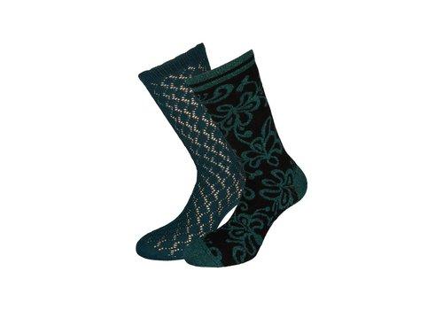King Louie Socken 2 Paar | Socks 2-Pack Razzle Dazzle | Dragonfly Green