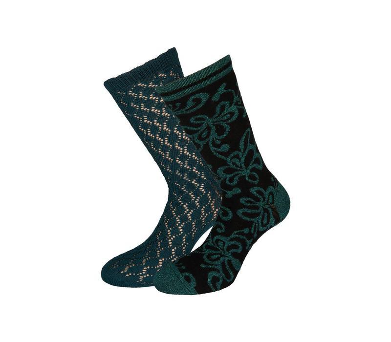 Socken 2 Paar | Socks 2-Pack Razzle Dazzle | Dragonfly Green