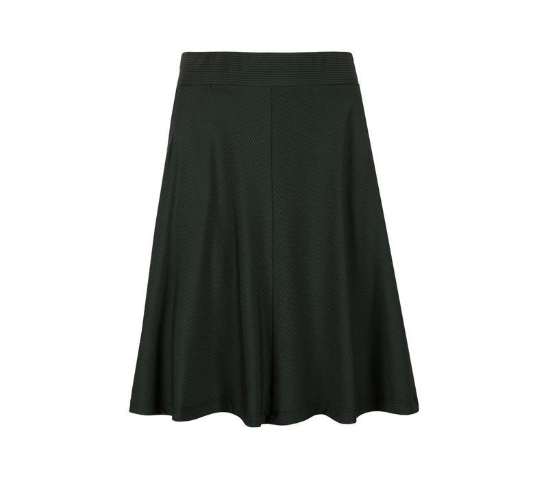 Rock | Sofia Skirt Fine Stripe | Sycamore Green