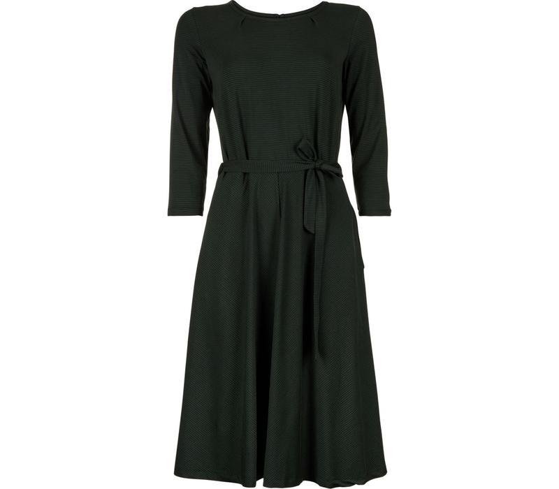 Kleid | Helena Dress Fine Stripe | Sycamore Green