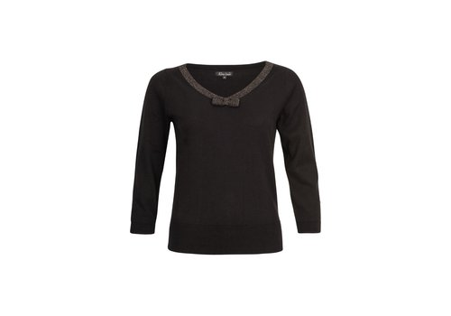 King Louie Pullover | Bow Top Knit Lapis | Black