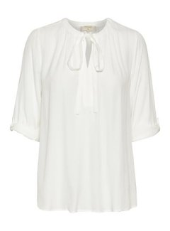 Cream Clothing Bluse   Vera 3/4 sleeve blouse   Chalk
