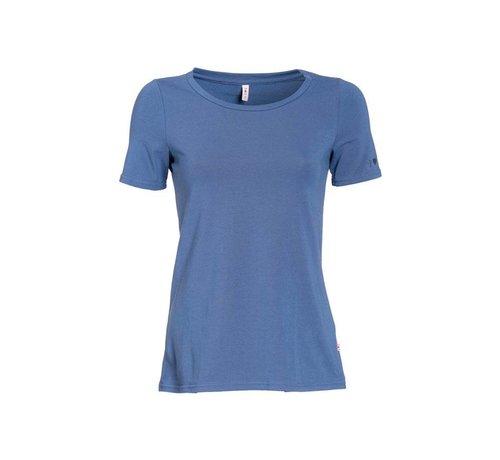 Blutsgeschwister Shirt | logo round neck | blue monday
