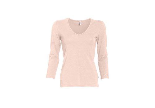 Blutsgeschwister Shirt | logo v-neck 3/4 sleeve | powder rose