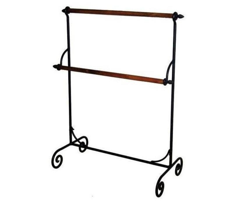handtuchhalter vintage holz metall rostfarben. Black Bedroom Furniture Sets. Home Design Ideas