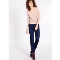 Cardigan | logo knit cardigan short | pale pastell