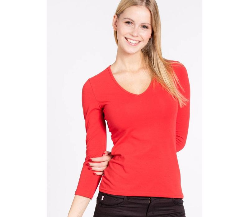 Shirt | logo v-neck 3/4 sleeve | candy cone
