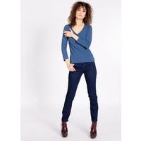 Shirt | logo v-neck 3/4 sleeve | blue monday