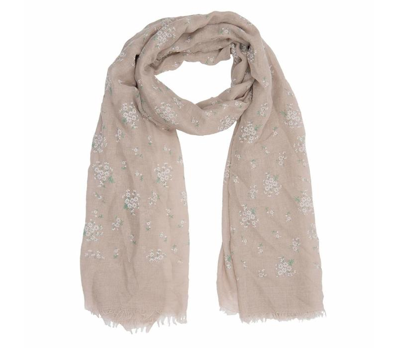 Schal Cute flowers Beige