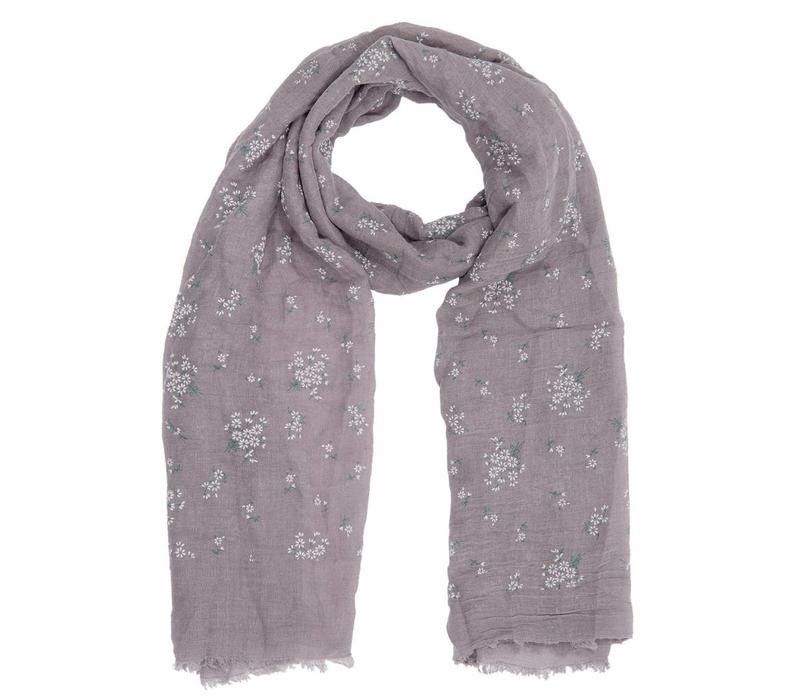 Schal Cute flowers taupe