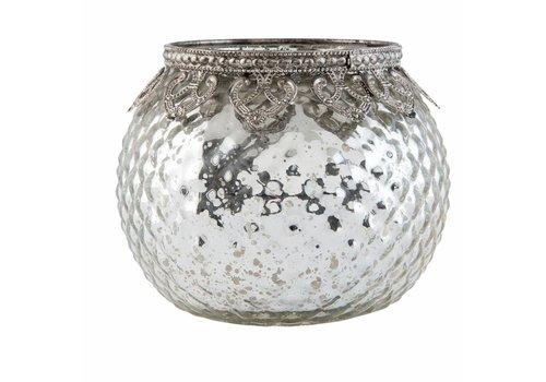 Clayre & Eef Teelichthalter | Antiksilber | Ø 11*10 cm