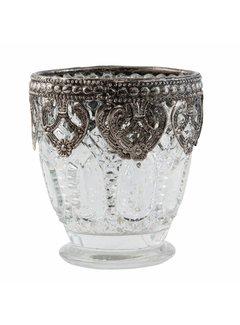 Clayre & Eef Teelichthalter | Antiksilber | Ø 7*8 cm | mittel