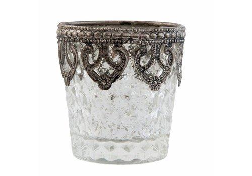 Clayre & Eef Teelichthalter | Antiksilber | Ø 7x7 cm | klein