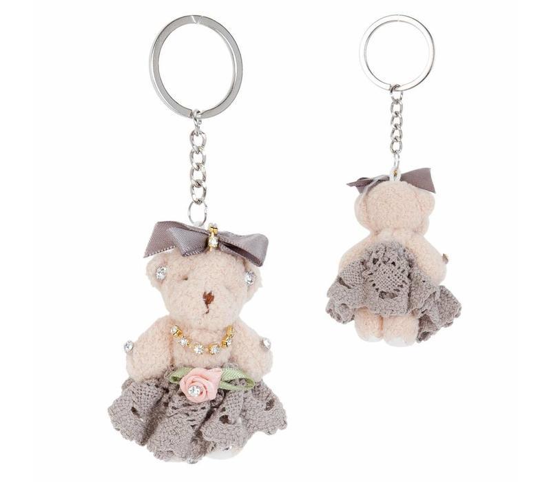 Schlüsselanhänger  | Bär | Rosamunde | Taupe