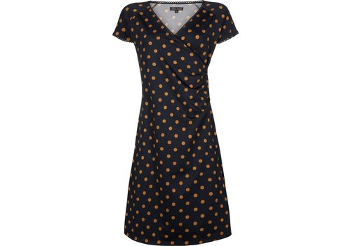 King Louie Kleid | Cross Dress Partypolka | Dark Navy