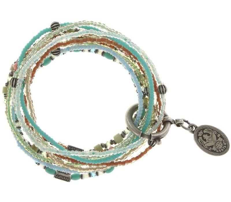Armband elastisch | Petit Glamour d´Afrique | pastel multi