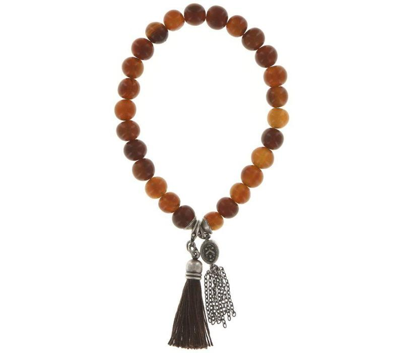 Armband elastisch | Buddha bracelet 8 mm | brown