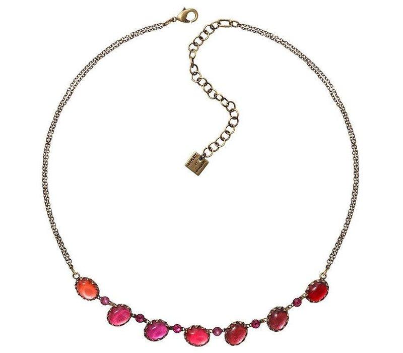 Halskette   Melody Drops   dark red/coralline
