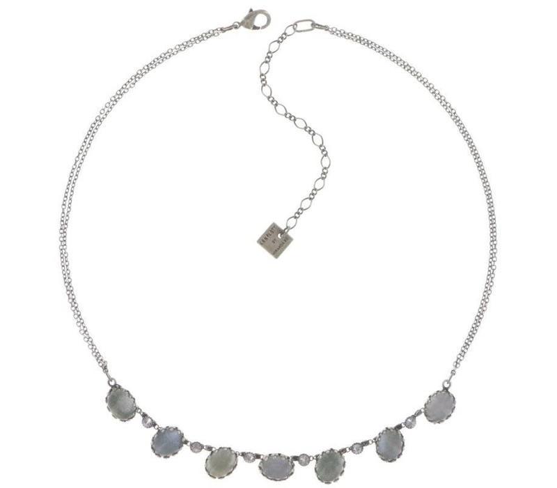 Halskette | Melody Drops | white/grey