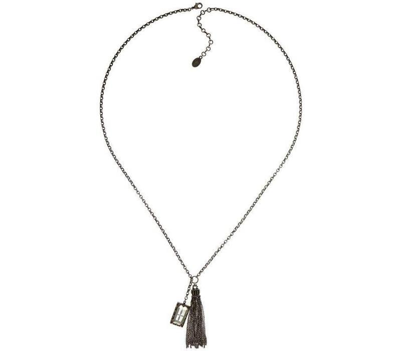 Halskette | Y Casual | brown/grey