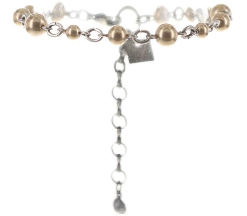Armband | Dutchess | beige crystal golden shadow