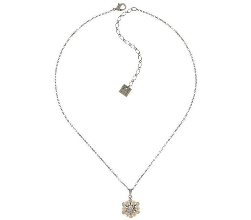 Halskette | Dutchess | white crystal
