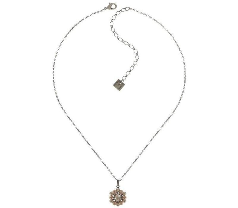 Halskette | Dutchess | beige crystal golden shadow
