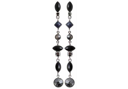 KONPLOTT Ohrstecker  | Mini Treasure II | black silver