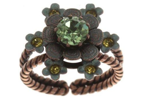 KONPLOTT Fingerring | Arsenic in Old Lace | green antique