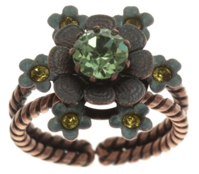 Fingerring | Arsenic in Old Lace | green antique