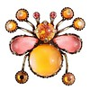KONPLOTT Pin | Flower Zumzum | coralline/orange small