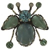 KONPLOTT Pin | Flower Zumzum | blue/green small