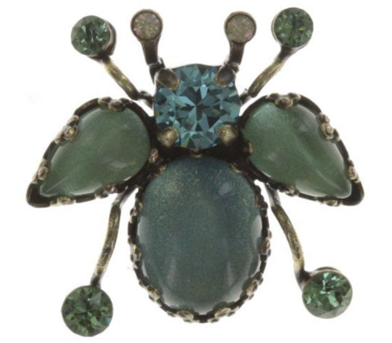 Pin | Flower Zumzum | blue/green small