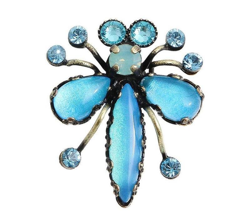 Pin | Flower Zumzum | blue small