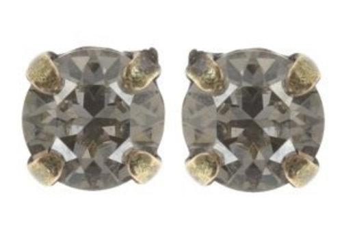 KONPLOTT Ohrstecker | Black Jack | white crystal silver shade